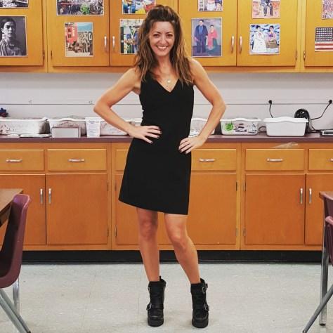 Trina Turk dress, BCBGGeneeration booties