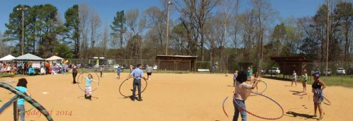 More hooping on the ballfield.