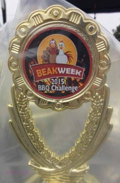 Medallion for the 2015 BBQ trophy.
