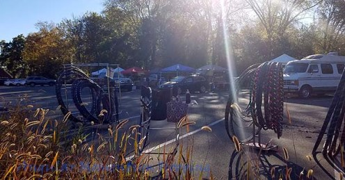 Late afternoon in early November at the Pittsboro Farmers' Market.