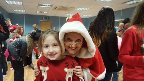 Sinead and Mrs.Claus - great friends !