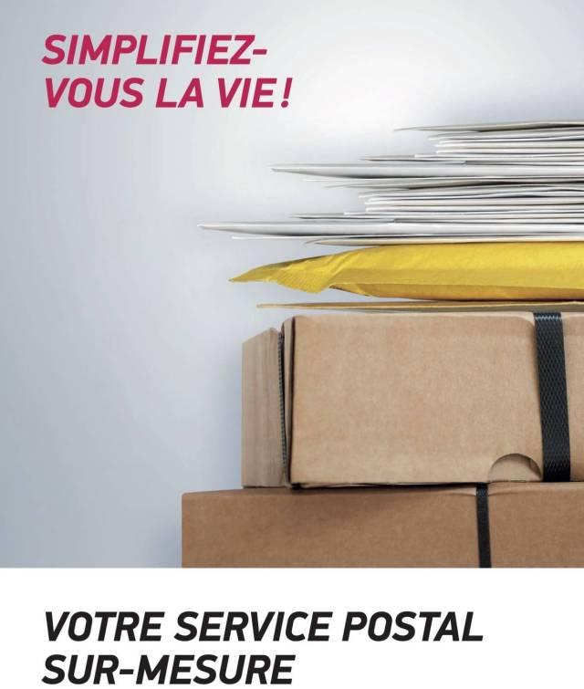 coursiers à vélo courrier postal