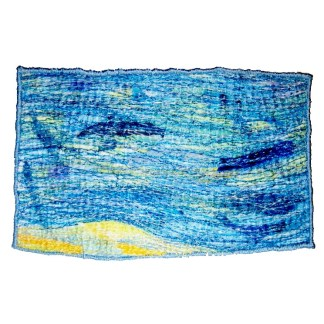 Sea Abstract Embroidery by Tamara Russell - Karhina.com