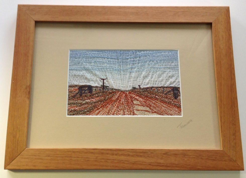 Red Road - Freehand machine embroidery by Tamara Russell – Karhina.com