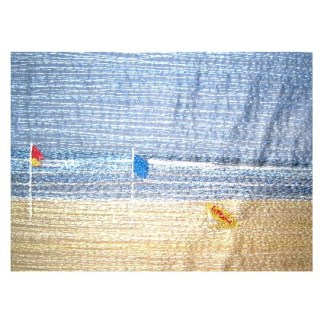 Surf Flags - Freehand machine embroidery by Tamara Russell – Karhina.com