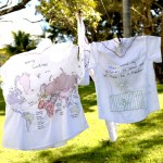 Women and Youth -They sought refuge – Hand stitching on shirts by Tamara Russell – Karhina.com