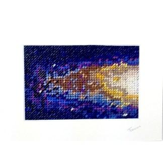 Andromeda galaxy - Hand stitching by Tamara Russell – Karhina.com