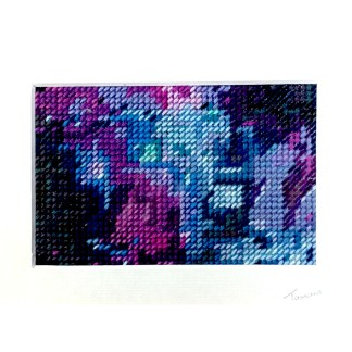 Blue galaxy - Hand stitching by Tamara Russell – Karhina.com