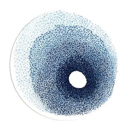 Blue nebula - Hand stitching by Tamara Russell – Karhina.com