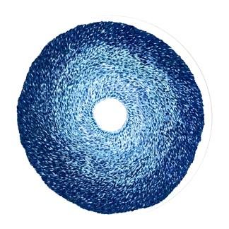 Blue seed nebula Hand stitching by Tamara Russell – Karhina.com