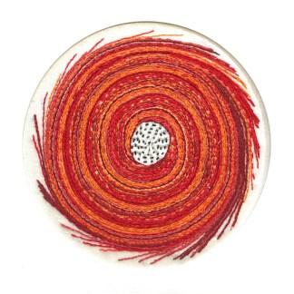 Orange nebula - Hand stitching by Tamara Russell – Karhina.com