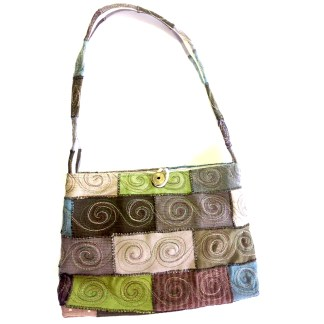Upcycled handbag - paddock