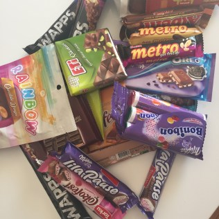 Kas, lisää suklaata.