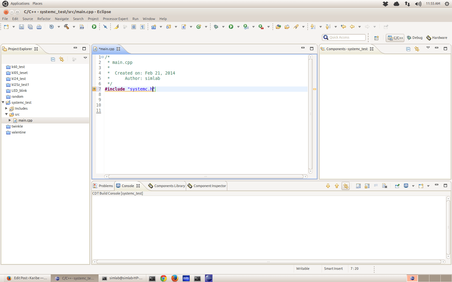 Setting up SystemC and Eclipse for C++ hardware simulation >> Karibe