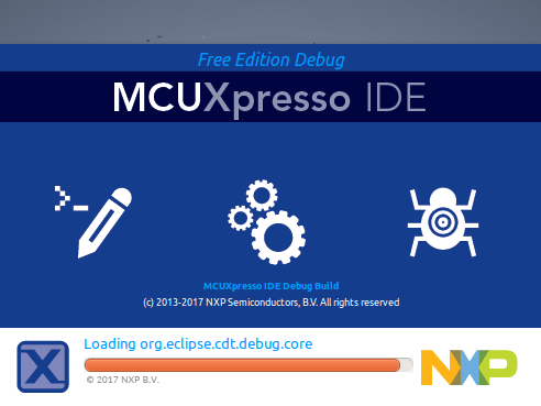 MCUXpressoIDE splash screen
