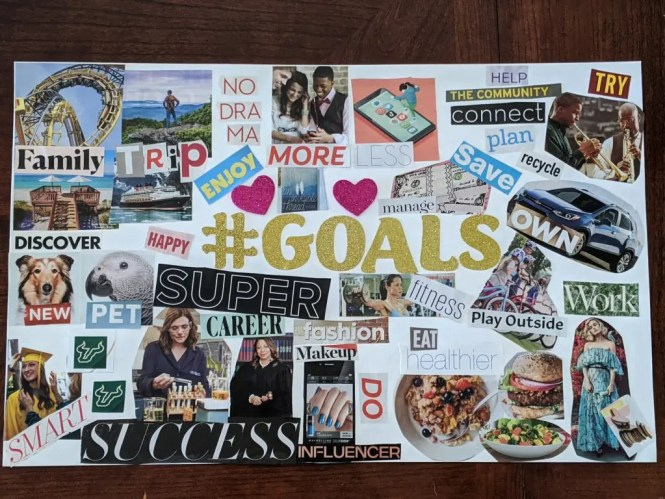 Vision board for your goals