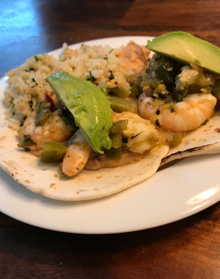 cilantro lime shrimp tacos, affordable, easy recipe