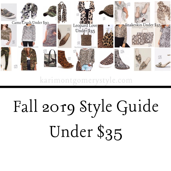 fall 2019 style guide under $35
