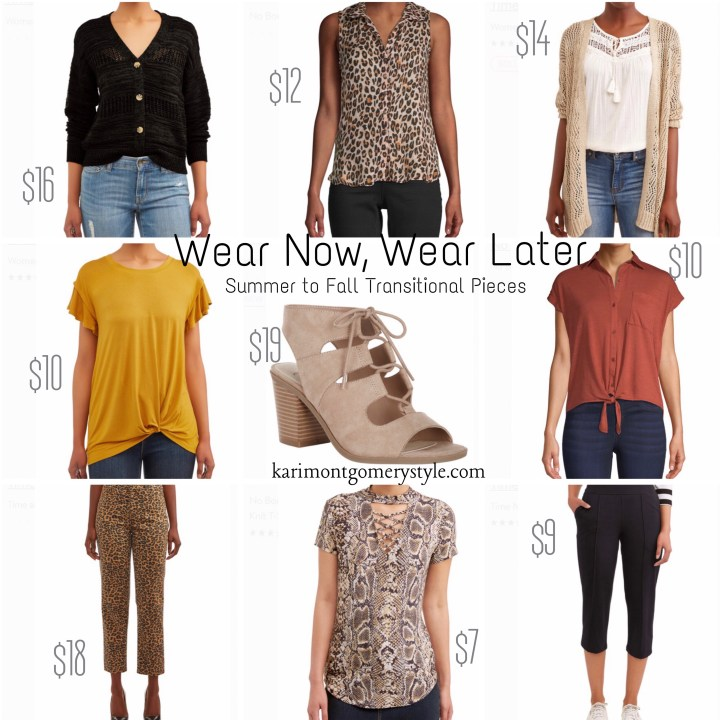 summer to fall transitional pieces to wear now and later