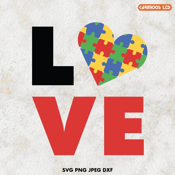 Download Love Autism SVG | Karimoos