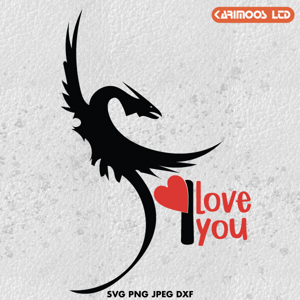 Download Dragon Valentine's Day SVG   Karimoos