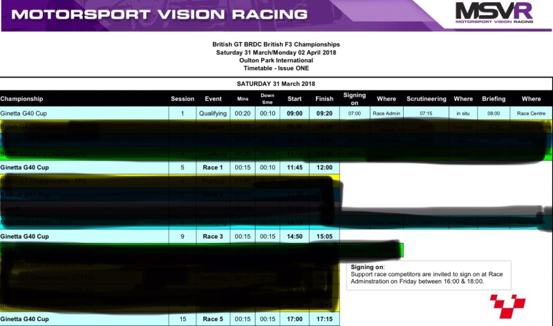 img 0452 - Back to backs: Timetable for the next race