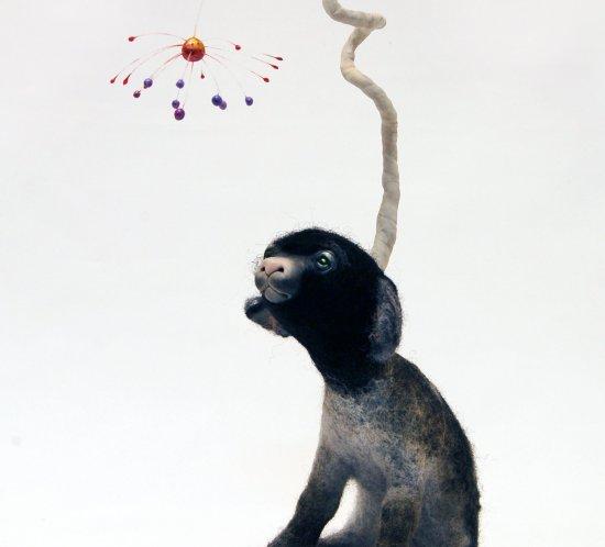 Reverie horned lamb - imaginary animal by Canadian artist Karina Kalvaitis