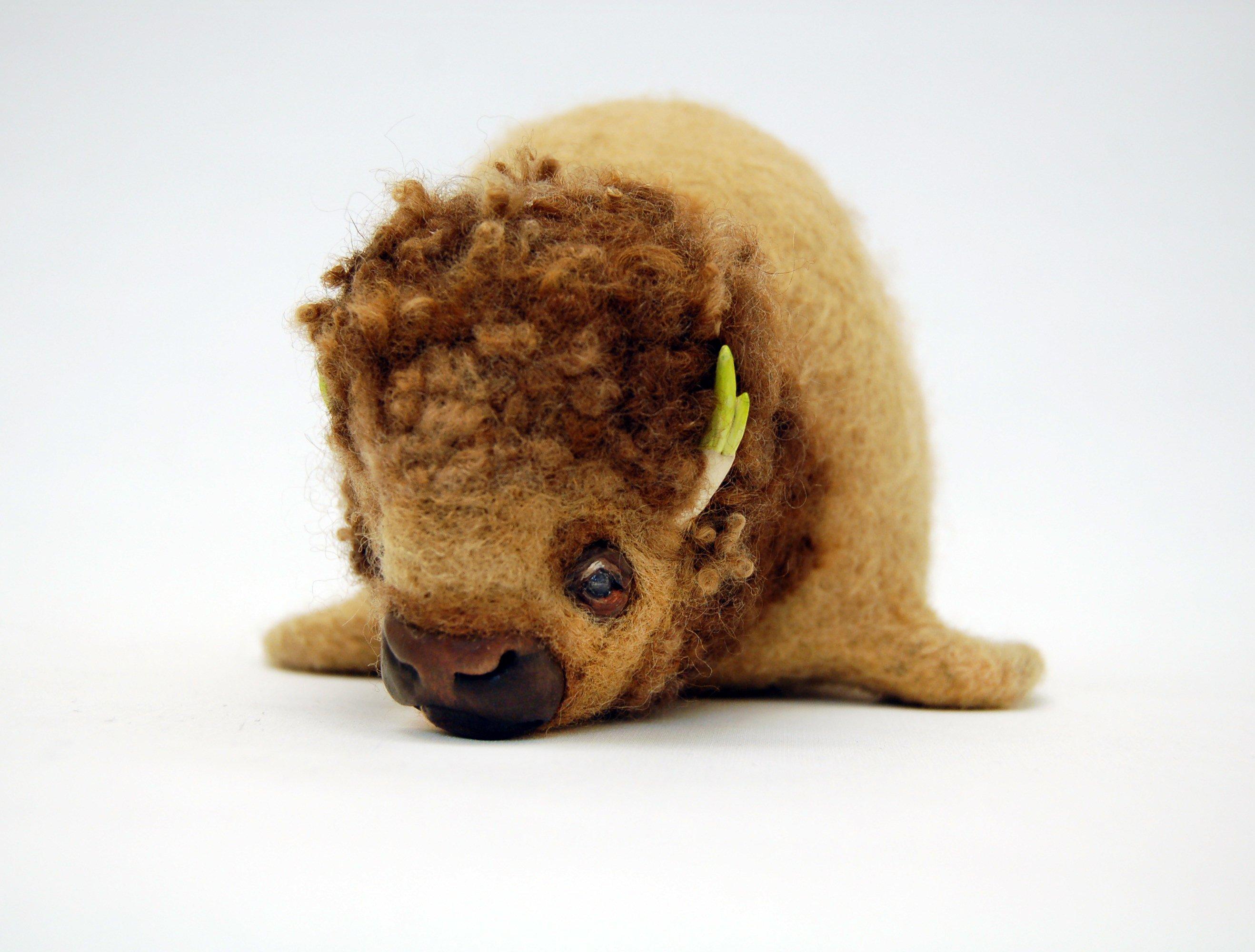 Buffalump - animal metamorphosis sculpture - Karina Kalvaitis