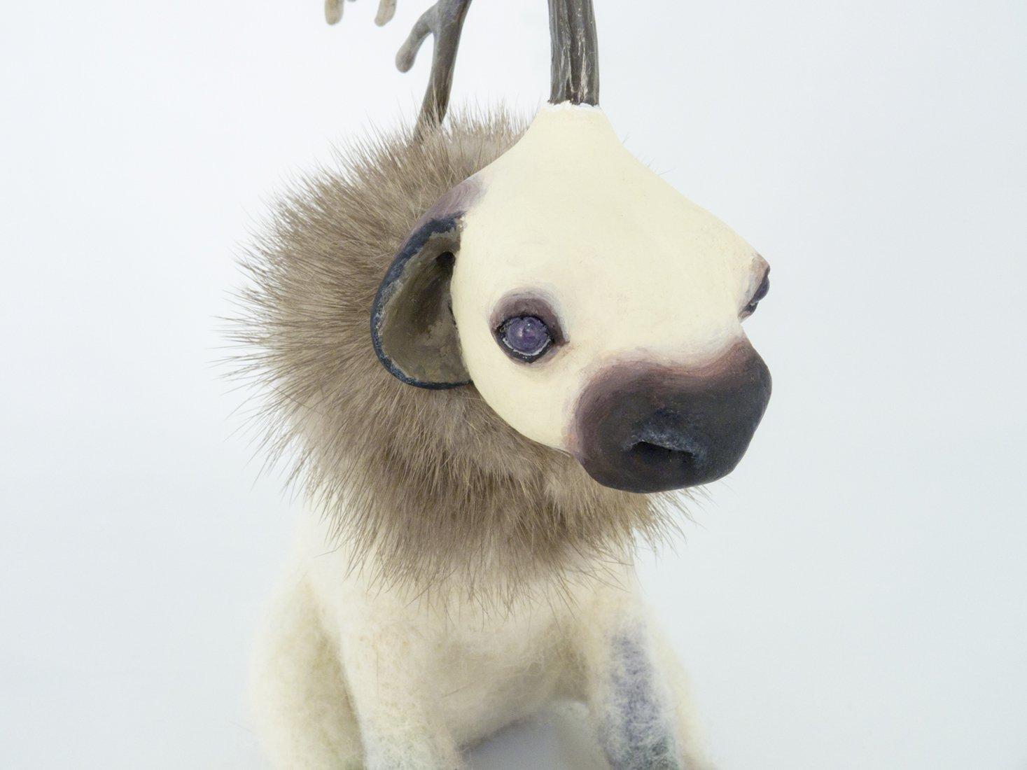 Northern Unicorn Fine Art Felt Animal Sculptures - Karina Kalvaitis
