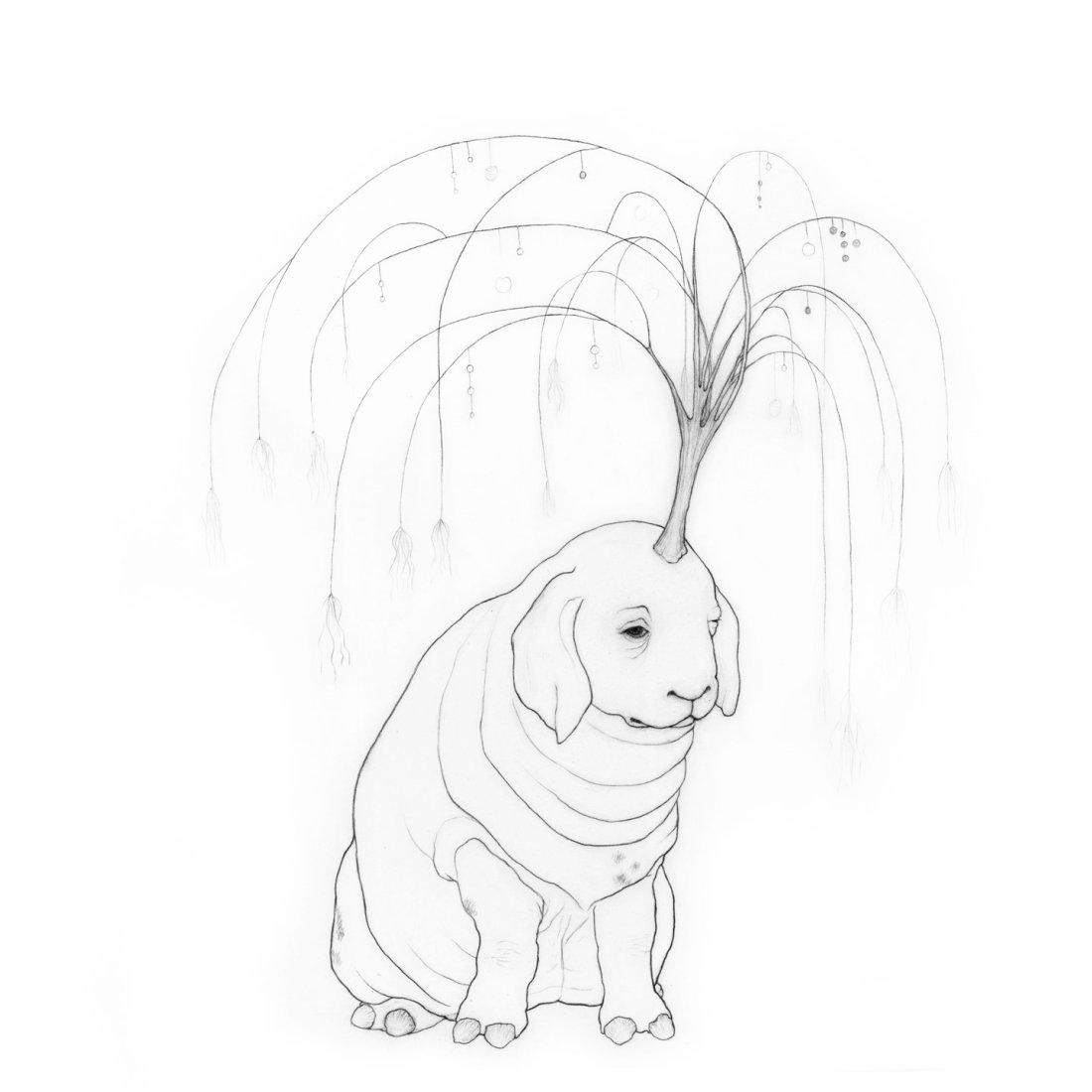 Daydreamer unicorn drawing - Karina Kalvaitis - all rights reserved