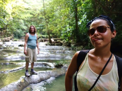 Hiking through the tropical of eastern Guatemala in search of magical waterfalls. Livingston, Guatemala -- April Beresford