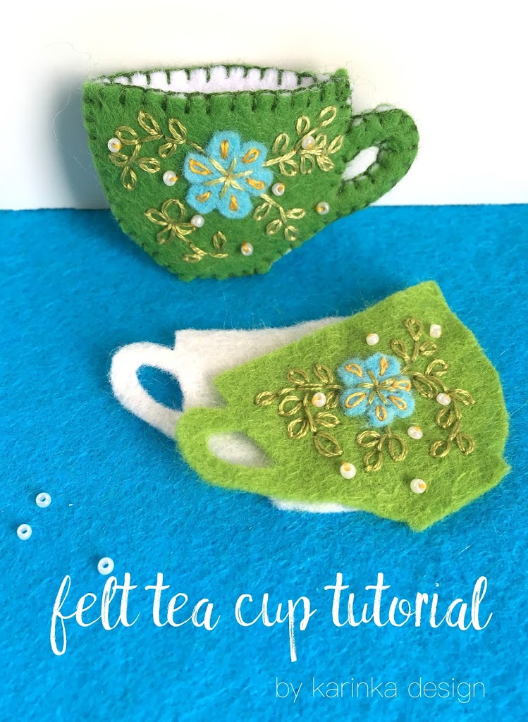 a mini felt tea cup tutorial