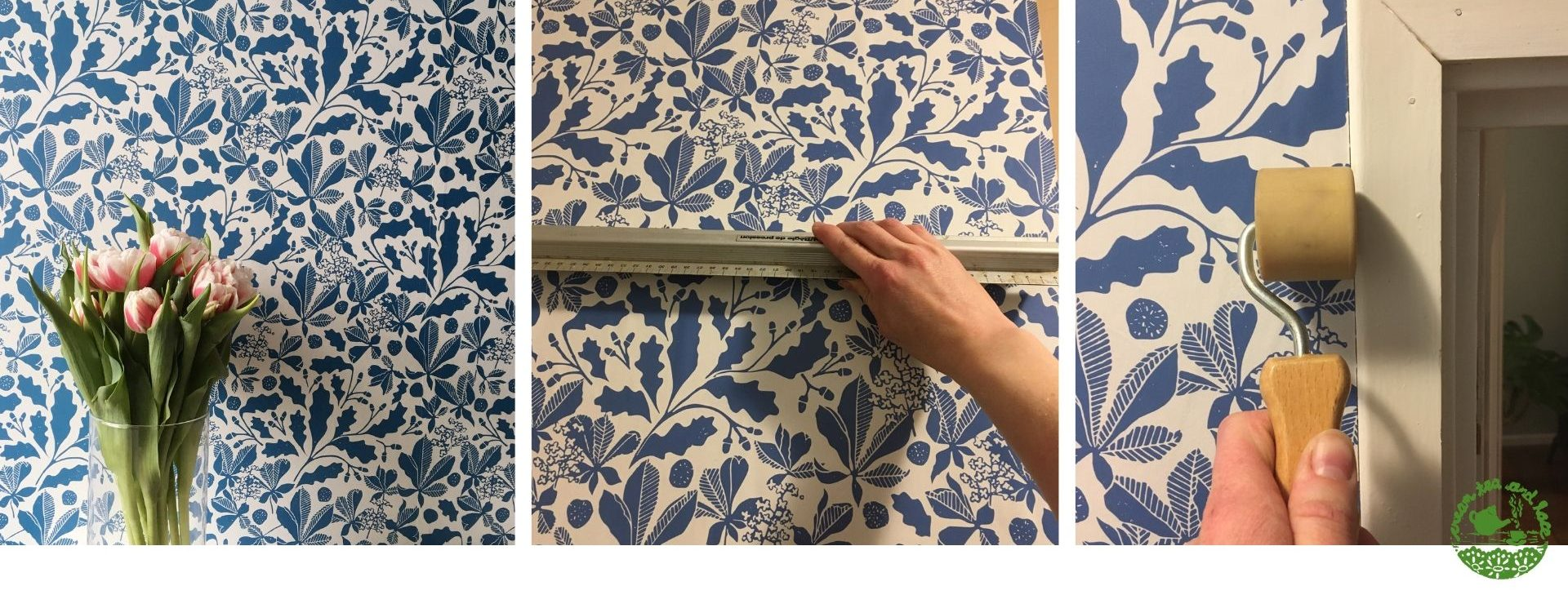 How to hang wallpaper for a stunning accent wall