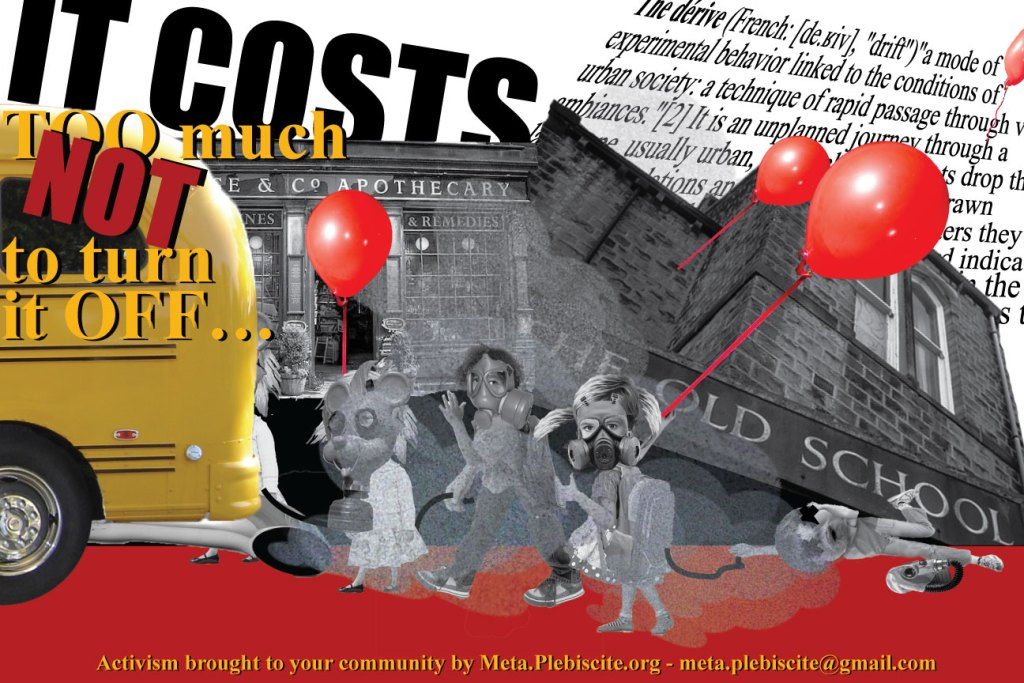 School bus Poster from the Poisoning the Flaneur Series