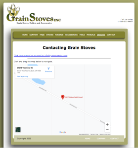 Grain Stoves Inc. Web Page
