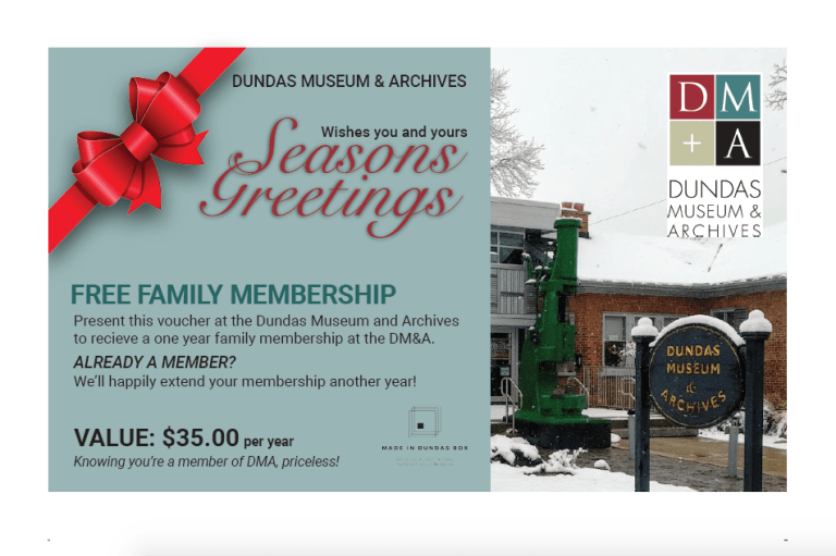Dundas Museum and Archives Membership Postcard