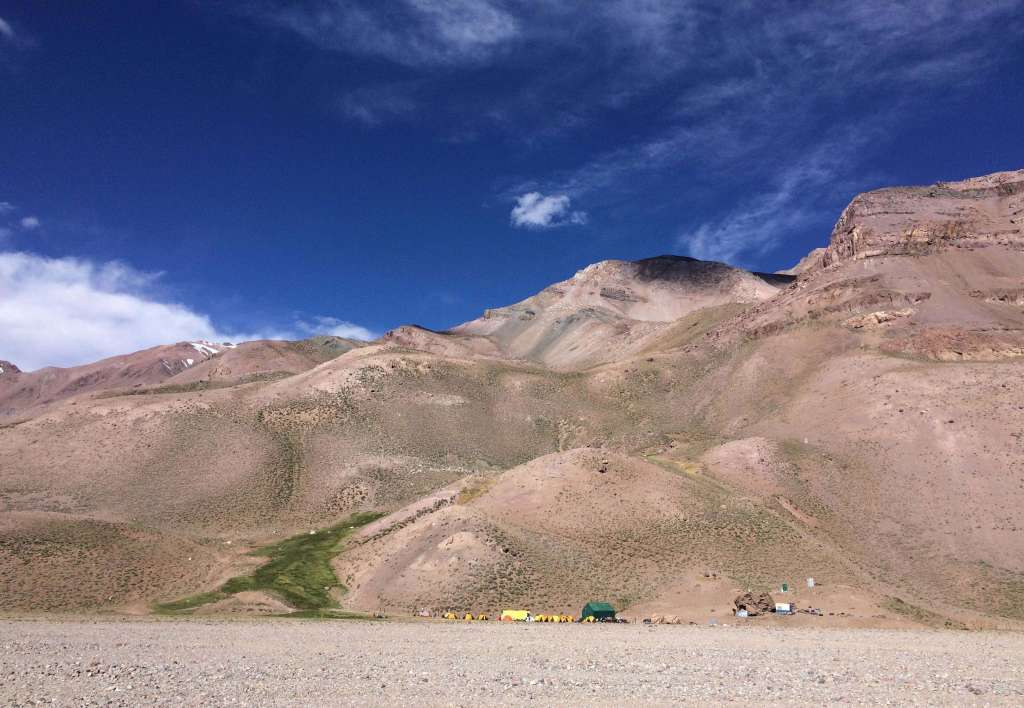 Casa Piedras, a camp on Aconcagua via the 360 route