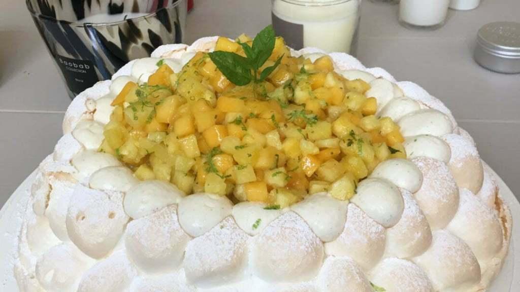 pavlova mangue citron vert ananas final