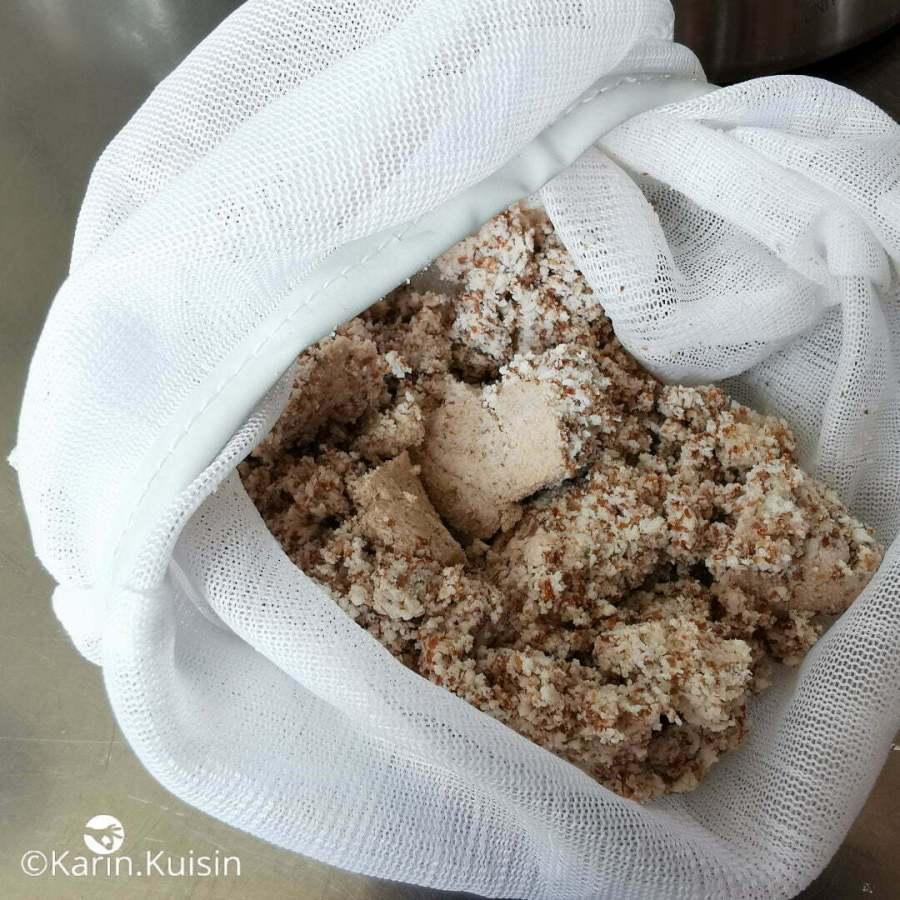amande fibre reste lait presser