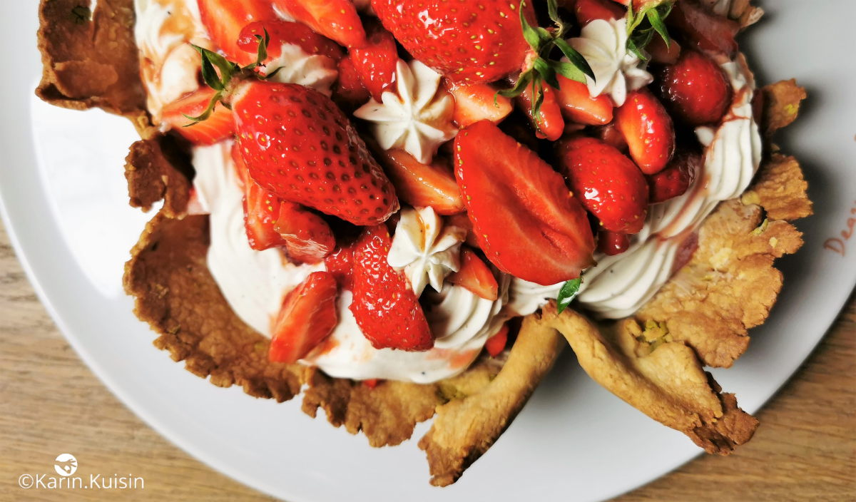 tarte créative fraise caramel balsamique