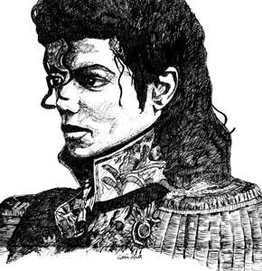 Pen & ink Michael Jackson Respect Portrait