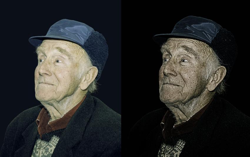 Portret effecten-dragan