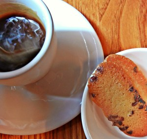 Coffee with cookies.