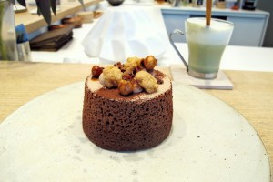 Chocolate and hazelnuts angel cake from Pâtisserie Ciel in Paris.