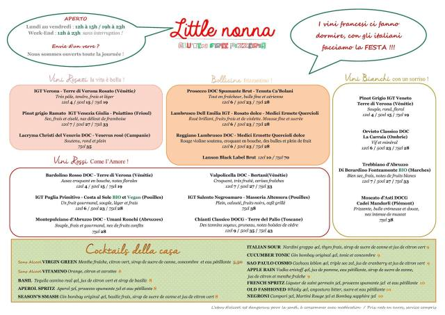 little nonna menu 2