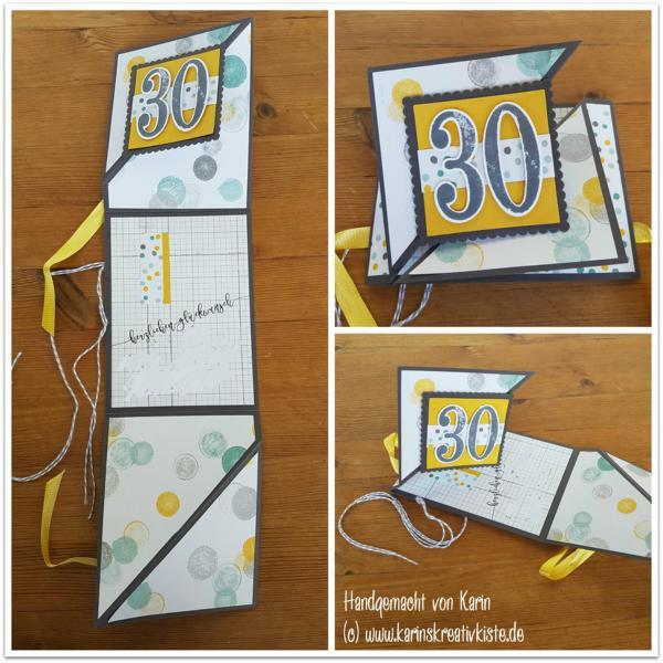 K800_Geburtstag 30 Geldgeschenkkarte Triangle Tri Fold (1)