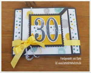 Geldgeschenk Karte Zum 30 Geburtstag Karin S Kreativkiste
