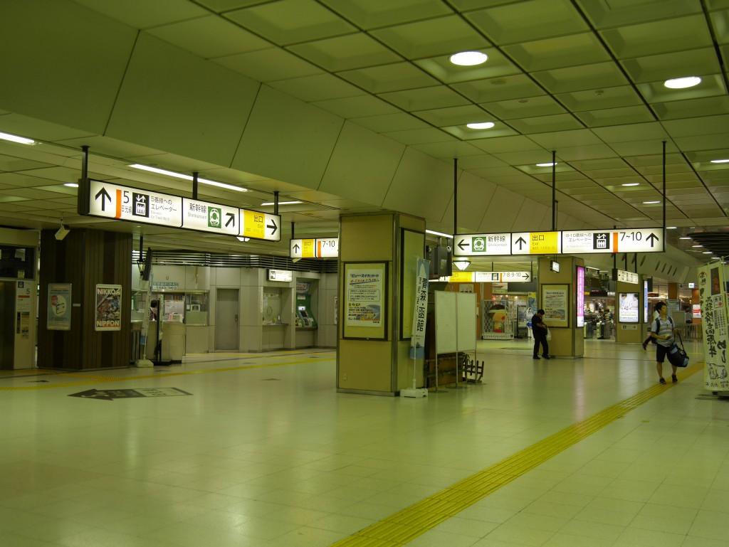 宇都宮駅構内は既に閑散