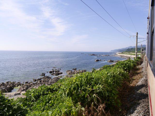 再び日本海沿いに