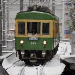 大雪警報の中、江ノ電と京急の前面展望を撮りに行った